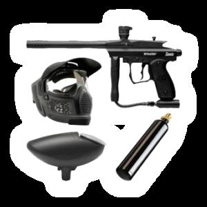 Vybavení na paintball - zbraň, maska